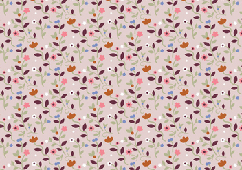 Pastel Floral Pattern - Free vector #369113