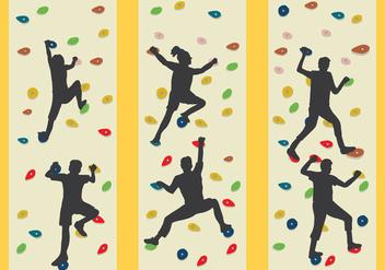 Climbing Wall Vector - vector gratuit #369133