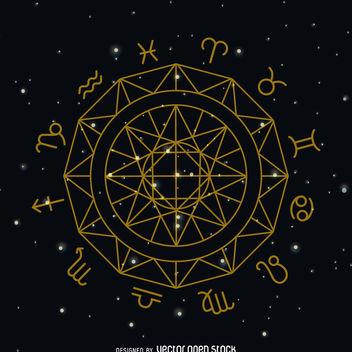 Zodiac sign circle symbol - Free vector #369213