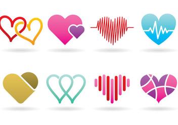 Heart Logos - бесплатный vector #369693