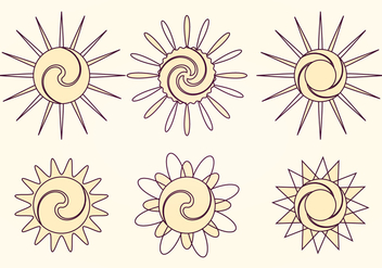 Vector Sun Collection - Free vector #369763