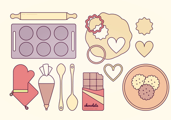 Baking Elements Vector Set - бесплатный vector #369783