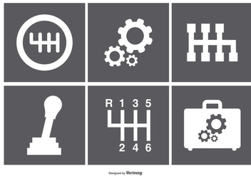 Assorted Gear Box Icons - vector gratuit #369923