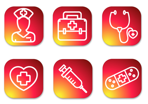 Nurse Gradient Icons - Free vector #370013