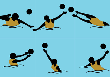 Water Polo Vector - vector gratuit #370023