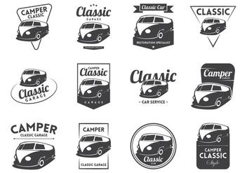 VW Camper Vintage Logo Vector - Free vector #370103