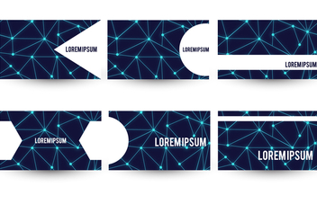 Neuron Theme Business Card Template Set - Free vector #370133