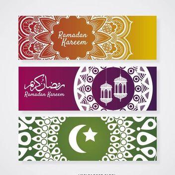 Ramadam mandala banner set - Free vector #370223