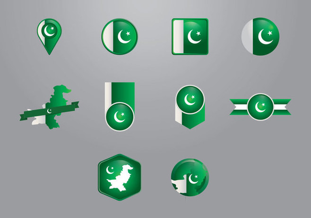 Pakistan Flag Vectors - Free vector #370383