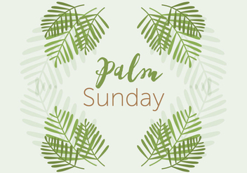Palm Sunday - vector gratuit #370513