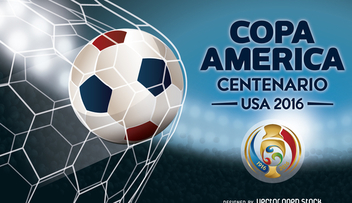 Copa America soccer ball banner - Free vector #370663