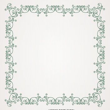 Antique swirl frame - Free vector #370703