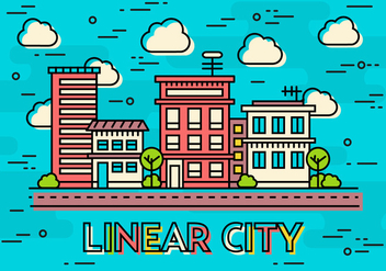 Free Teal Flat Linear Design Vector Image Concept - vector #370813 gratis