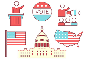 US Politics Icons - vector #370963 gratis