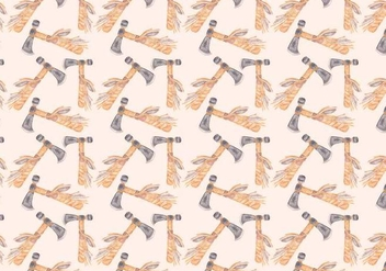 Free Vector Watercolor Axe Pattern - Free vector #370983