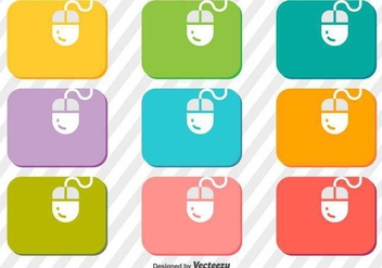 Vector Set Of Mouse On A Mouse Pad Icons - vector gratuit #371083