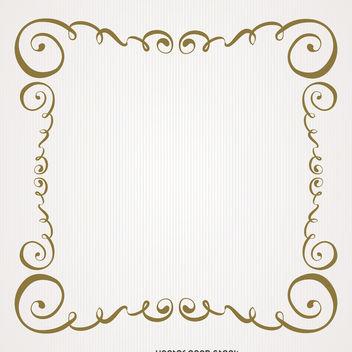 Vintage gold swirls frame - Free vector #371223