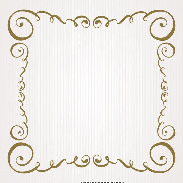 Vintage Gold Swirls Frame Free Vector Download 371223