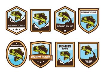 Free Bass Fish Badge Vector - Free vector #371343