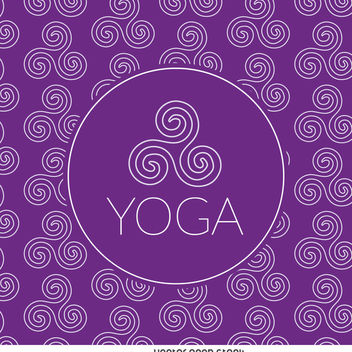 Zen yoga drawing pattern - Free vector #371453