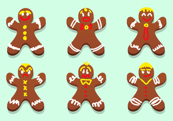 Lebkuchen Gingerbread Characters Vector - Free vector #371523