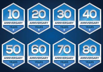 Free Anniversary Emblem - Free vector #371603