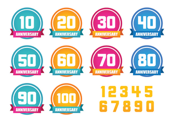 Anniversary Label Vector - бесплатный vector #371613