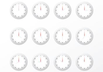 Free Clock Vectors - Free vector #371653