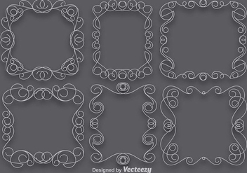 Vector Set Of Scrollwork Art Frames - Free vector #371753