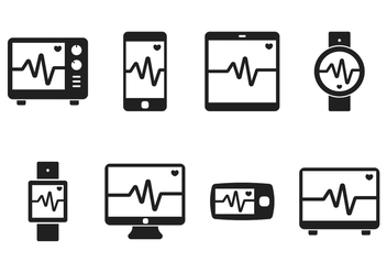 Heart Monitor Icon - Free vector #371773