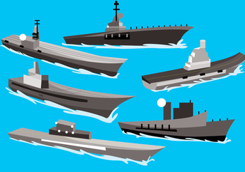 Aircraft Carrier Vector - vector gratuit #372183