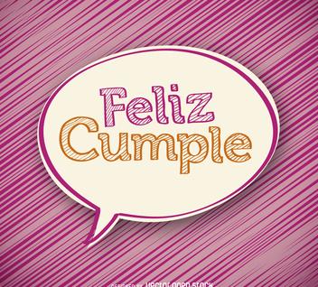 Handwritten feliz cumple design - vector gratuit #372353