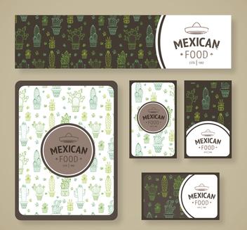 Mexican restaurant cactus branding - Free vector #372513