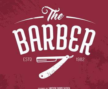 Hipster barber logo - Free vector #372523