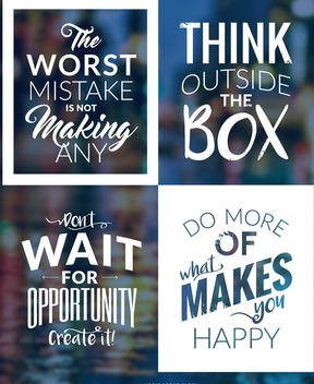 Hipster motivational poster set - Free vector #372703
