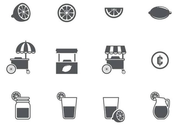 Free Lemonade Icons Vector - Free vector #372883