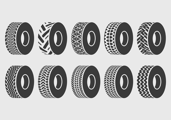 Tractor Tire Vector Icons - бесплатный vector #373243