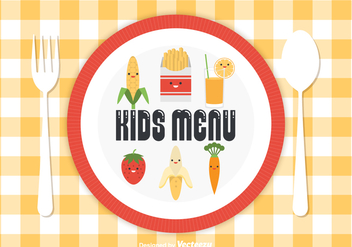 Free Kids Menu Vector - Free vector #373283