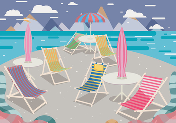 Deck Chair Vector - vector #373343 gratis