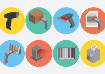 Free Barcode Scanner Icons Vector - vector gratuit #373363