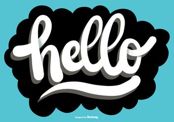 Hello Script Lettering Vector - Free vector #373433