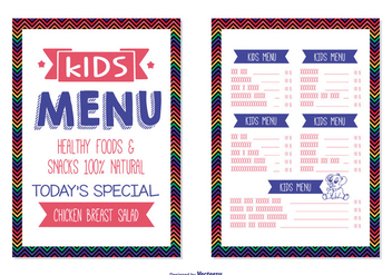 Kids Menu Template - Kostenloses vector #373483
