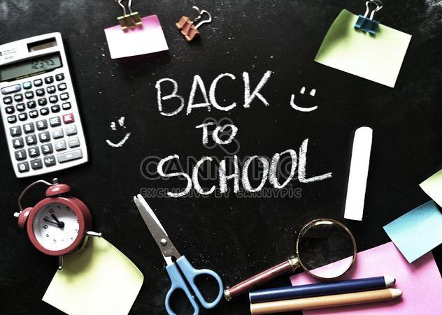 Back to school write on blackboard - Free image #373543