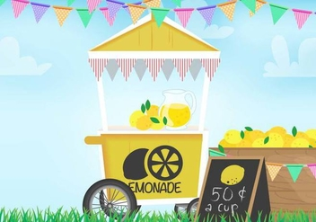 Lemonade Stand Vector - Free vector #373663