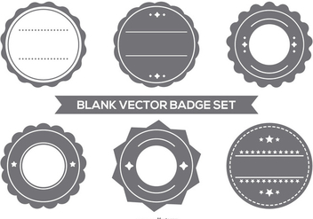 Blank Vector Badge Set - Free vector #373713
