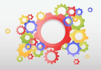 Gears Background Vector - Free vector #373723