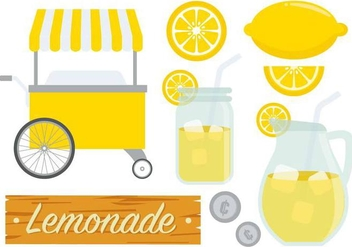 Free Lemonade Stand Vector - Free vector #373753