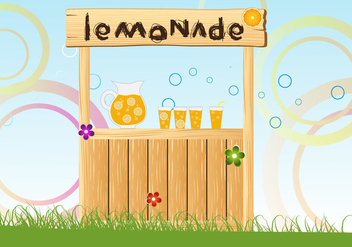 Vector Illustration of Lemonade Stand - vector gratuit #373813