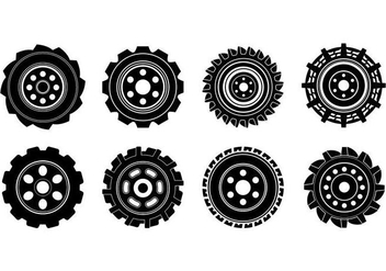 Free Tractor Tire Vector - Free vector #373863