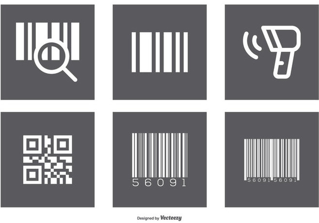 Assorted Barcode Icon Set - Kostenloses vector #373903
